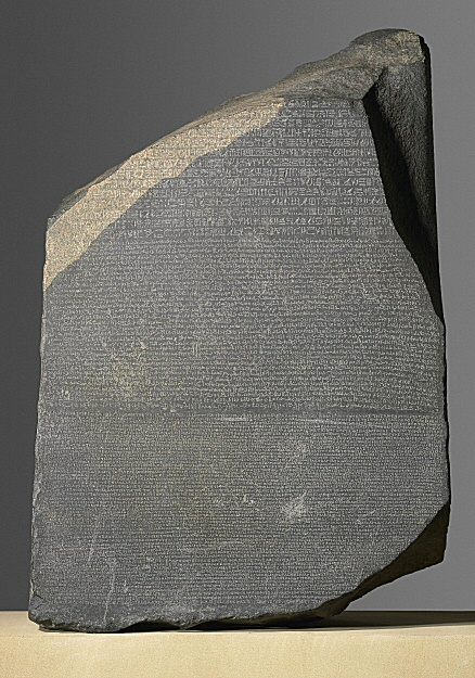 Image of the Rosetta stone (© Trustees of the British Museum, CC-BY-NC-SA)
